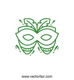mask with feathers carnival icon