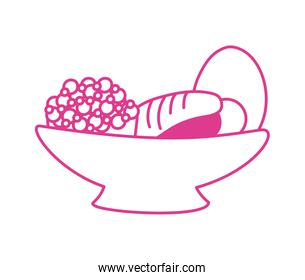 dish with sweet food icon