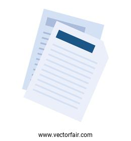 sheet of paper on white background