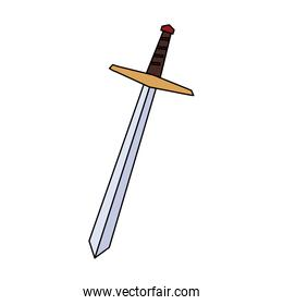 sword long on white background