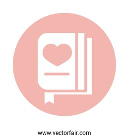 mothers day, card letter heart love block style icon