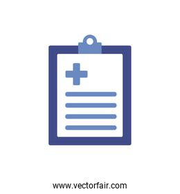 medical check list with rx document flat style icon