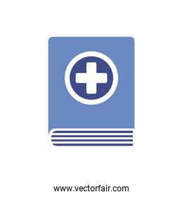 text book with medical cross symbol
