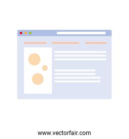 social network profile on white background