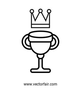 trophy cup award and crown