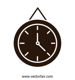 school education clock time supply silhouette style icon