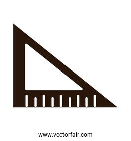 school education triangle ruler angle supply silhouette style icon
