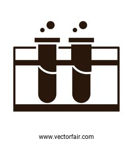 school education chemistry test tube laboratory supply silhouette style icon