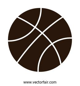 school education basketball ball sport supply silhouette style icon