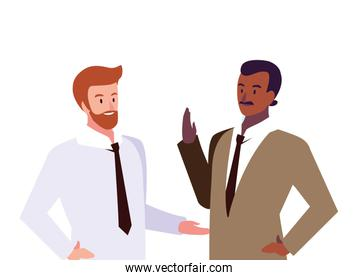 cute businessmen with various views, poses and gestures