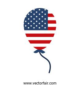 memorial day flag in balloon decoration american celebration flat style icon