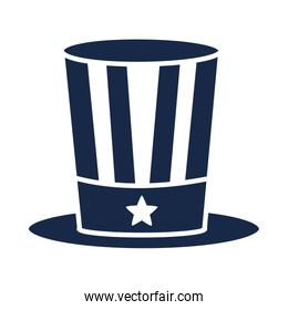 memorial day flag top hat decoration american celebration silhouette style icon