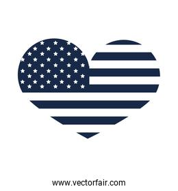 memorial day flag shaped heart event american celebration silhouette style icon