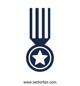 memorial day medal star ribbon honor american celebration silhouette style icon