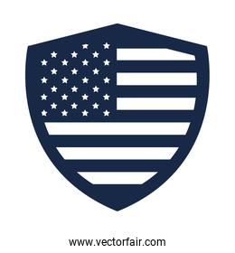 memorial day shield flag american celebration silhouette style icon