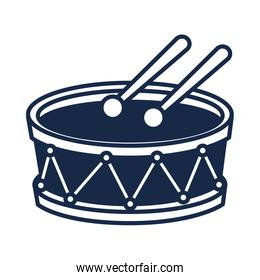 memorial day drum and drumsticks instrument american celebration silhouette style icon