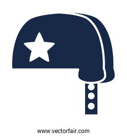 memorial day blue helmet with star american celebration silhouette style icon