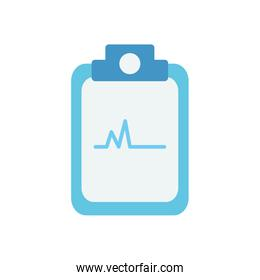clipboard with medical report icon, flat style