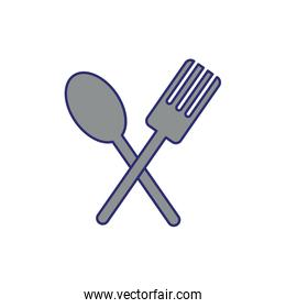 fork and spoon cutleries icons