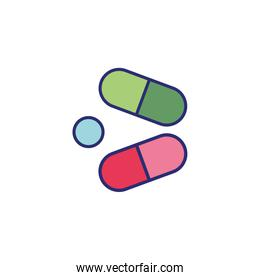 capsules drugs healthy isolated icon