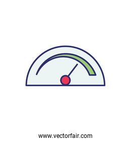 weight measure gauge isolated icon