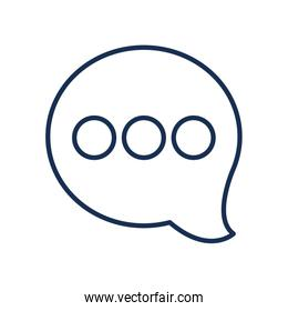 speech bubble with three dots icon, line style