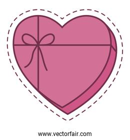 Isolated heart gift vector design