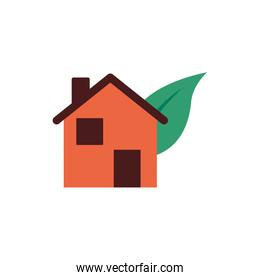 house with leafs plant ecology