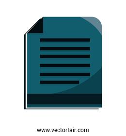 paper lines supply online education isolated icon shadow
