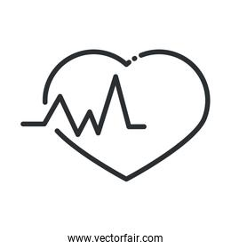 online health, heartbeat medical cardiology covid 19 pandemic line icon