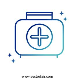 online health, kit first aid medical service covid 19 pandemic gradient line icon