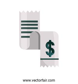 payments online, receipt paper bill flat icon shadow