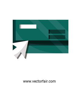 payments online, bank credit card clicking flat icon shadow