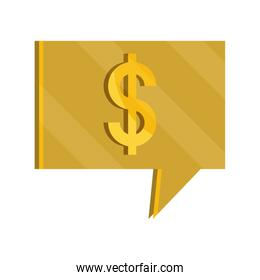 payments online, speech bubble money flat icon shadow