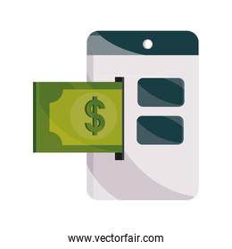 payments online, website banknote money flat icon shadow