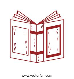 book day, open textbook cover isolated icon design line style
