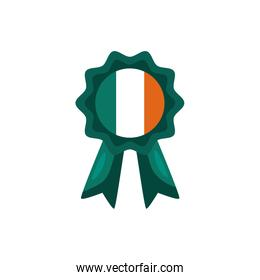 medal with ireland flag detaild style icon