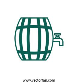 beer wooden barrel line style icon