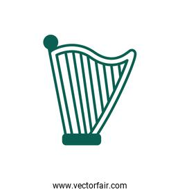 harp musical instrument line style icon