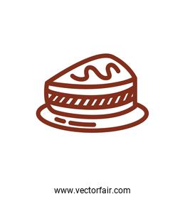 cake portion pastry line style icon