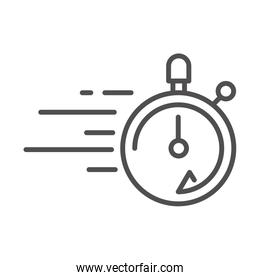 stopwatch speed cargo shipping related delivery line style icon