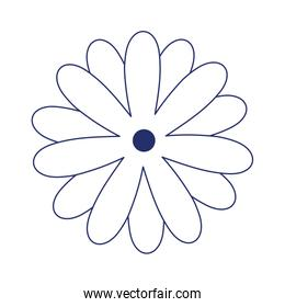 flower decoration isolated icon design line style