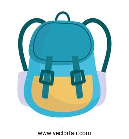 backpack accessory isolated icon design