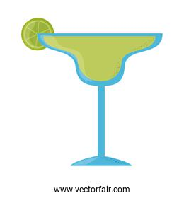 tequila cocktail with lime cinco de mayo mexican celebration flat style icon