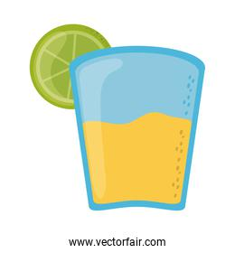 tequila and lemon cinco de mayo mexican celebration flat style icon