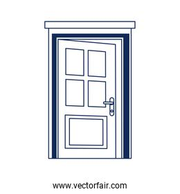 open door home frame isolated icon white background line style