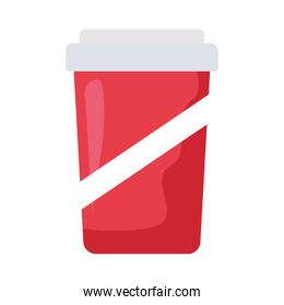 Isolated soda mug vector design