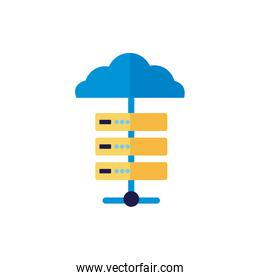isolated cloud computing with server flat style
