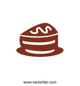 cake portion pastry silhouette style icon