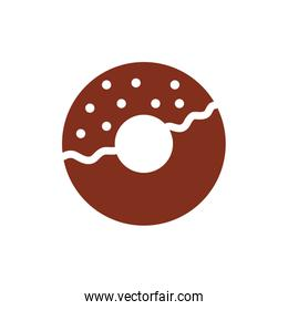 sweet donut pastry silhouette style icon